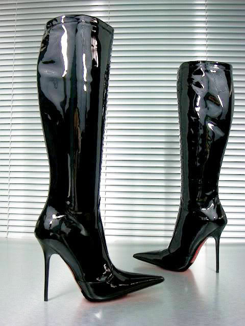 CQ PATENT COUTURE CUSTOM KNEE HIGH Stiefel STIEFEL PATENT CQ LEATHER BLACK SCHWARZ 39 1df12c
