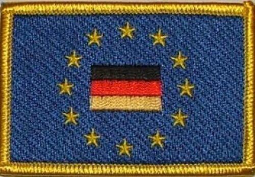 Ricamate Europa con la Germania Bandiera Bandiera aufbügler Patch 8 x 5 cm