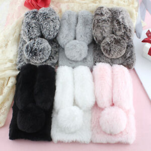 quality design 997a4 9b077 Details about Cute Rabbit Plush Fuzzy Fluffy Soft Phone Case For Samsung  Huawei Xiaomi Oppo