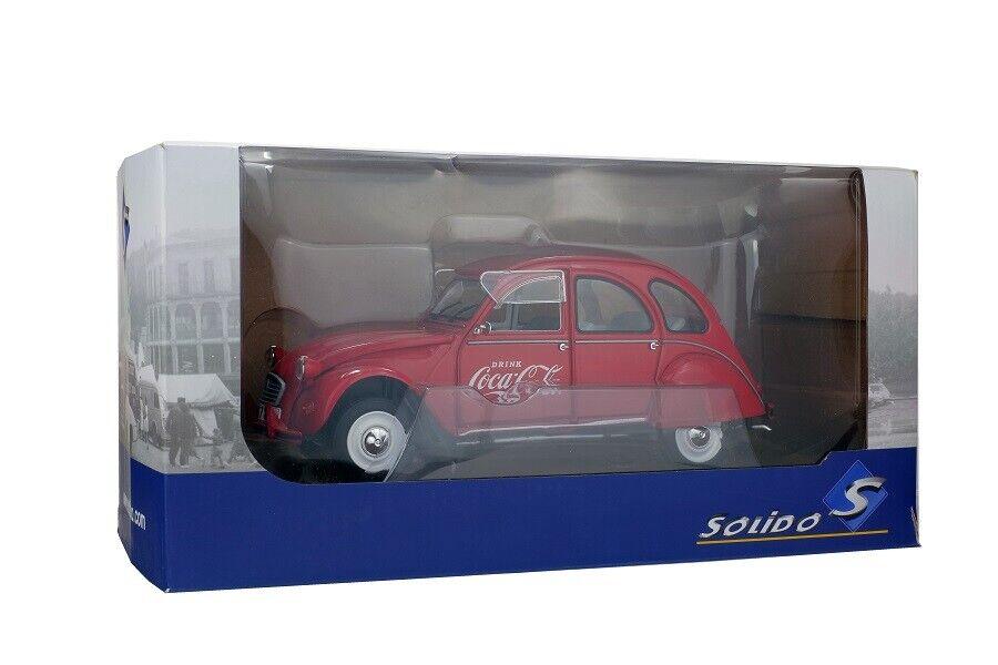 SOLIDO 421184060 - 1 18 Citroen 2cv6 1978-Coca Cola-Neuf
