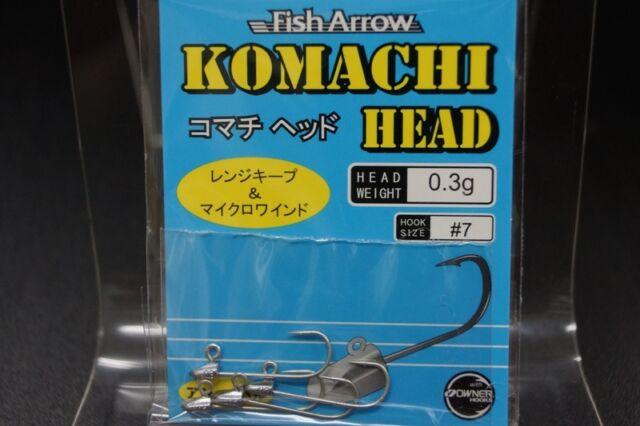 Fish Arrow KOMACHI HEAD JIG for Rock fish Soft lures