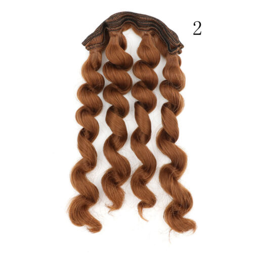 15cm x 100cmnatural color curly doll wigs hair DIY for 1//3 1//4 1//6 /_WK