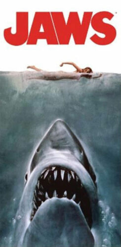 Jaws Poster 30x60 Beach Towel