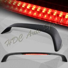 For 1996-2000 Honda Civic Coupe Black Rear Trunk Rear Spoiler Lip Wing LED Brake