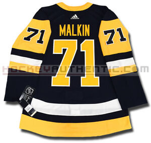 EVGENI MALKIN PITTSBURGH PENGUINS ADIDAS ADIZERO HOME JERSEY AUTHENTIC PRO