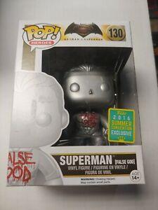 BATMAN V SUPERMAN POP Vinyl False God SUPERMAN #130 summer Con SDCC 2016