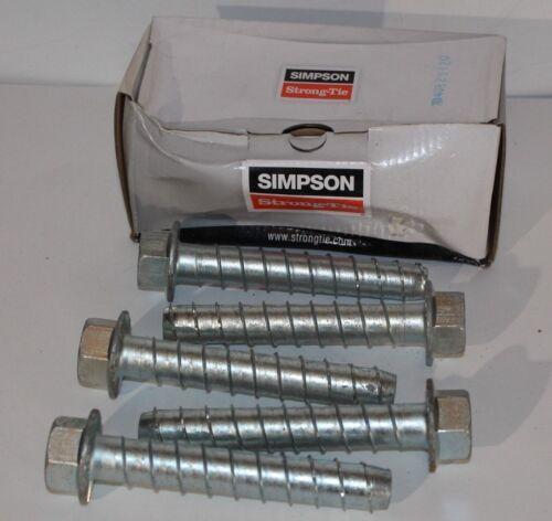 "Simpson Strong-Tie Titen HD Screw Anchors 3//4 x 5/"" THD75500H 5PK"