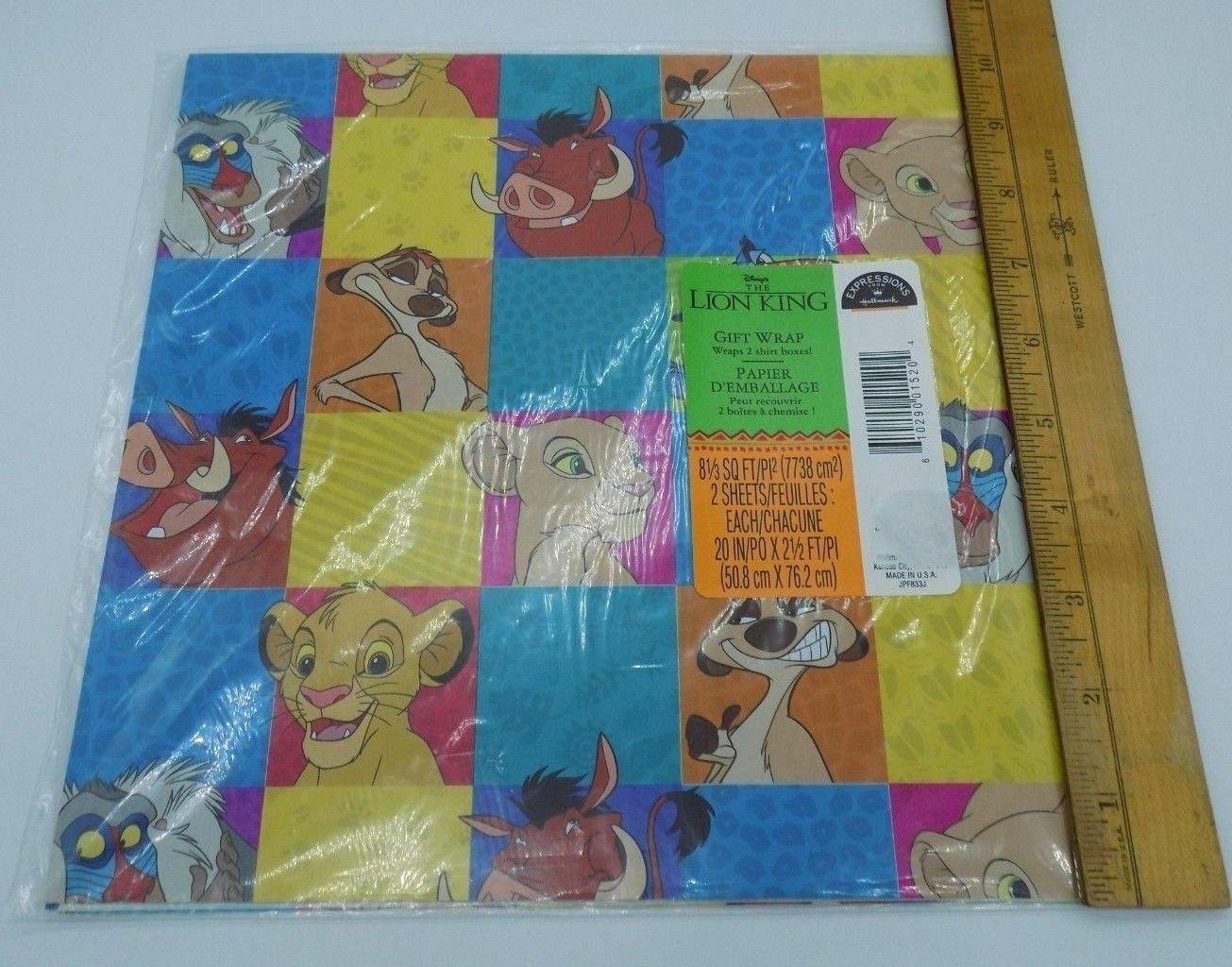 Simba Nala Lion King Wrapping Paper NALA LION KING Personalised Gift Wrap