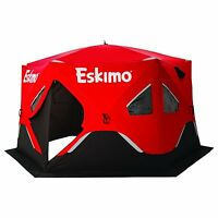X-large Eskimo Insulated Ice Shelter Pop Up Portable Fishing Hut 5-7 Man Tent