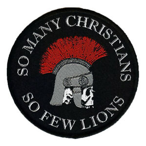 So-Many-Christians-So-Few-Lions-woven-Patch-Nero-Skull-Roman-Gladiator