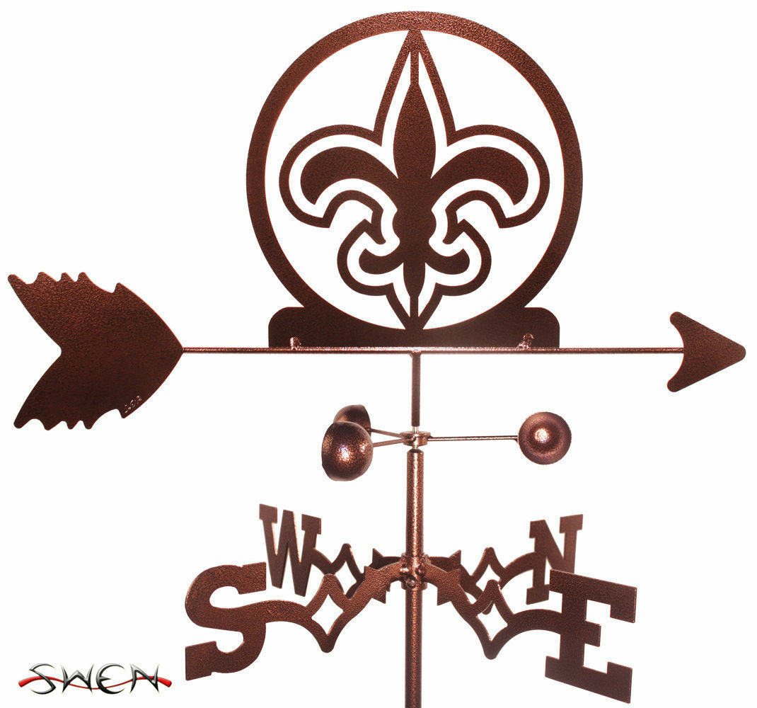 SWEN Products FLEUR DE LIS Steel Weathervane