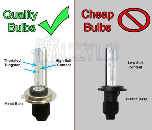 PAIR 35w H1 4300k HID Metal Base Replacment Bulbs AC Xenon