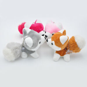 Bg-Suess-Klein-Husky-Hund-Pluesch-Puppe-Spielzeug-Schluesselanhaenger-Bag-Auto-Pro