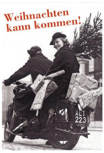 """/""""Weihnachten kann kommen!/"""" Kunstpostkarte"""