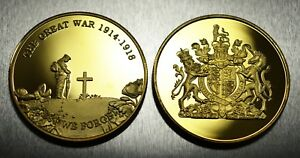 Brand New 24ct Gold Commemorative World War 1 Armistice/Reme<wbr/>mbrance Day Coin WW1