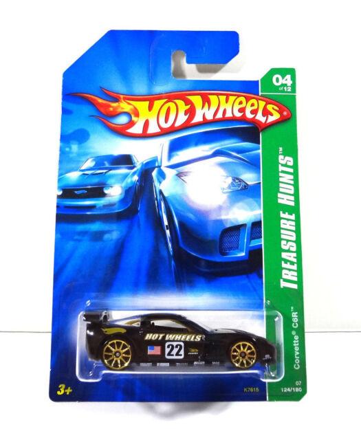 Hot Wheels Corvette CR6 Treasure Hunts T-Hunt Diecast Car 1:64 Scale 2007