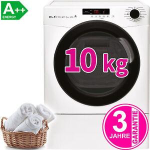 10-kg-XXL-A-Waermepumpentrockner-Waeschetrockner-Knitterschutz-Trockner-NEU-OVP