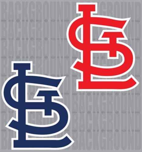 """2 St Louis Cardinals Cornhole Decals Each 11.5x14/"""" Bean Bag Toss Sticker"""