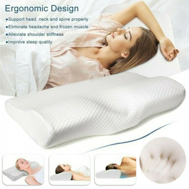 Ergonomic Memory Foam Pillow with