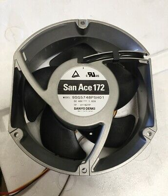 SANYO DENKI 9SG5748P5H01 SAN ACE 172 EXHAUST FAN 48VDC 6500RPM NEW 410 CFM