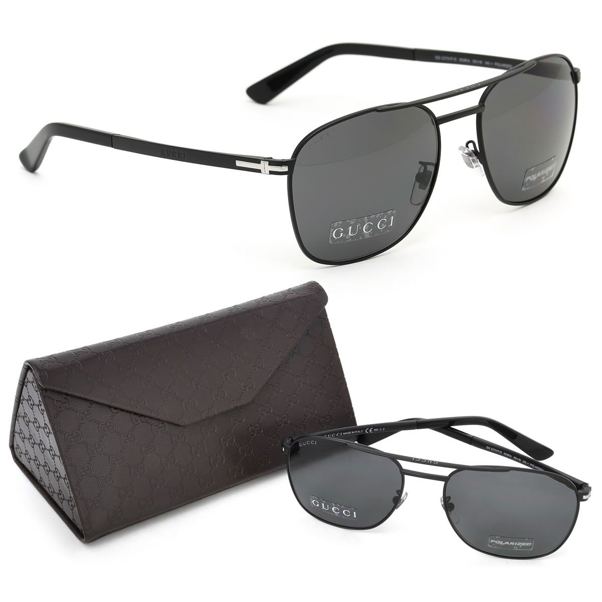 30a94d72c3 Gucci Men s GG 2270 f s 003ra Polarized Sunglasses Matte Black for sale  online