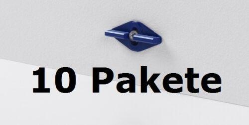 10 Pakete Parador Leistenclips Befestigungsclips blau für Sockelleiste SL 6