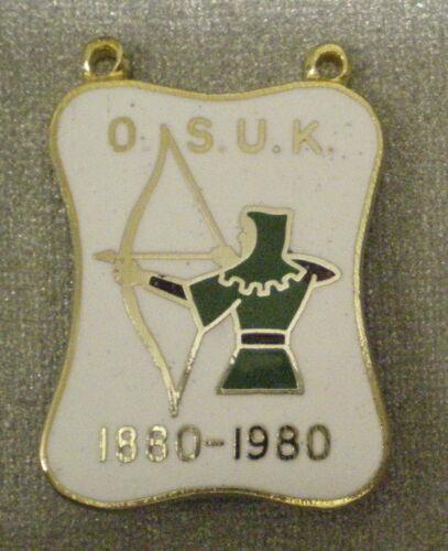1880-1980 medalion tir chasse pêche o.s.u.k ARCHERS Émail Badge