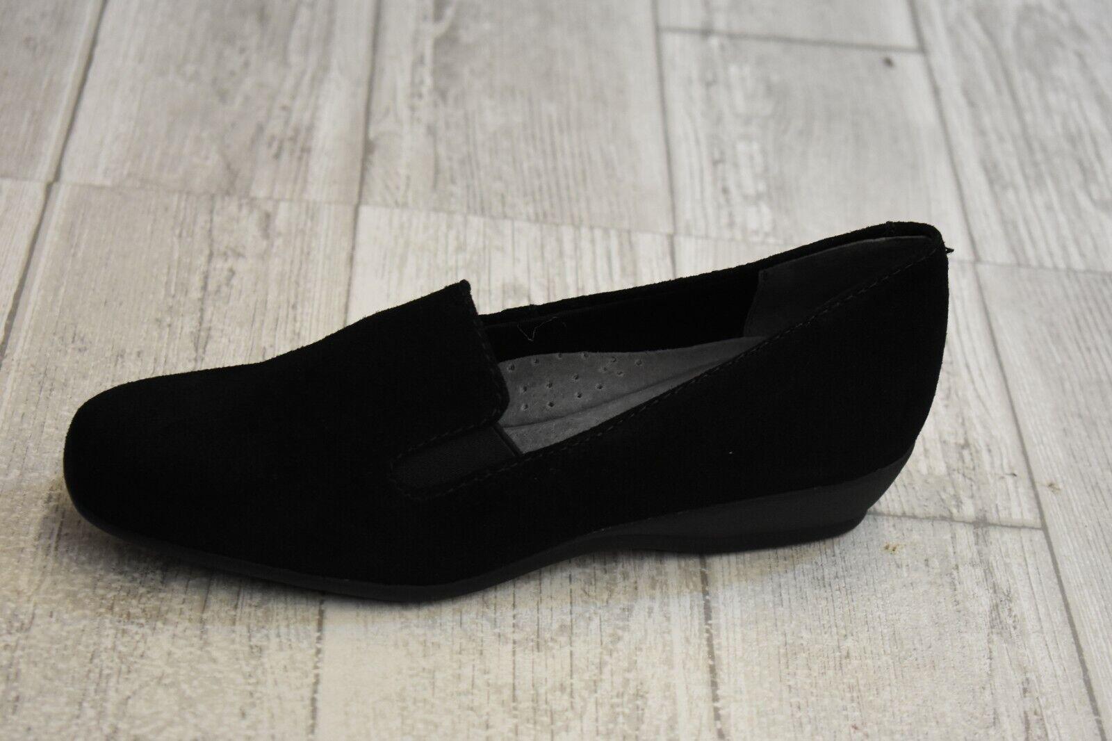 Trougeters Lamar Casual Slip On Chaussures-Femme Taille 6 N-NOIR NOUVEAU