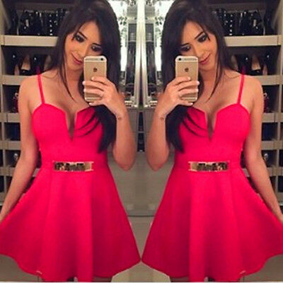 Ladies Fashion Bandage Bodycon Sleeveless Evening Sexy Party Cocktail Mini Dress