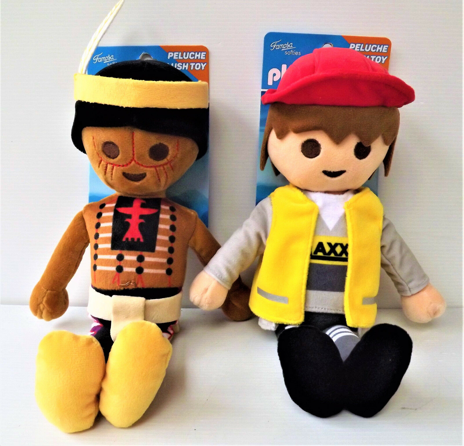 PLAYMOBIL - Set of 2 stuffed Plush Toy - Famosa Softies 30 cm - NEW