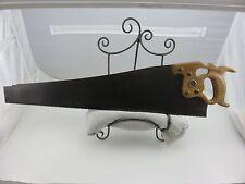 "Disston & Sons D-8 5ppi Thumbhole Rip Saw 26"" Long Blade Brass Nuts Nib Pre-1928"