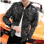Hot-Mens-Shiny-Sequins-Casual-Nightclub-Singer-Jacket-Slim-Fit-Plus-Size-Coat thumbnail 4
