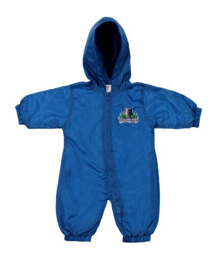 NBA Boy Girl Infant Minnesota Timberwolves Hooded Wind Suit Coverall Slate Blue
