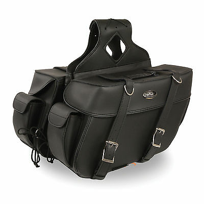 """Motorcycle Waterproof  Saddle Bags Rivets Harley Bike List Below 16 x 11 x 6/"""""""
