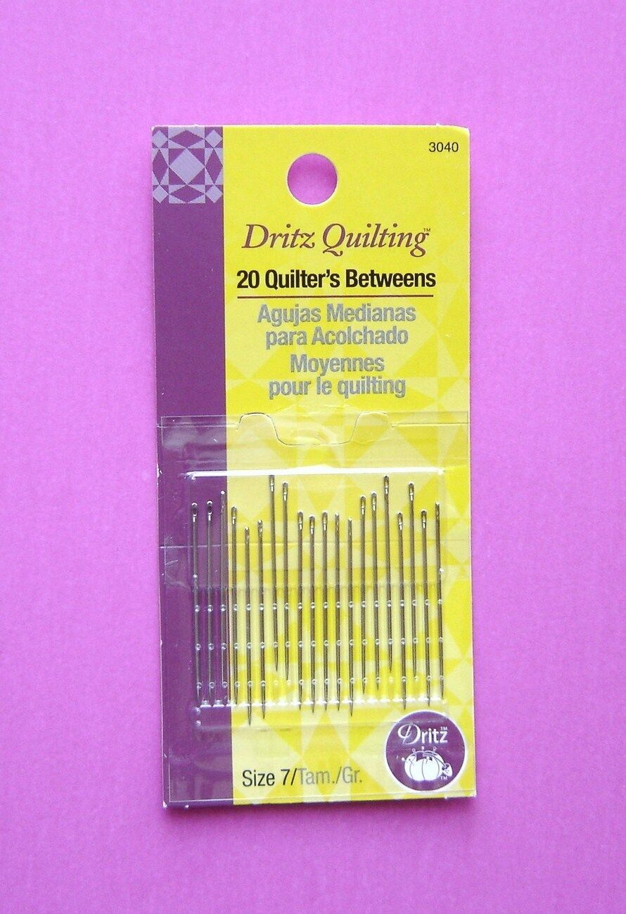 Dritz Quilters Basting Hand Needles Size 7 6 Count