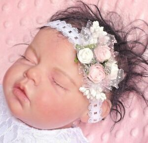 Baby-Maedchen-Haarband-Stirnband-Kopfband-Rosen-Prinzessin-Baby-Fotografie