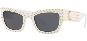 Versace Shiny White Medusa Ares Women's Square Sunglasses VE4358 40187 52 Italy