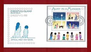 1981-Christmas-Island-MS-Christmas-SG-148-51-FDC