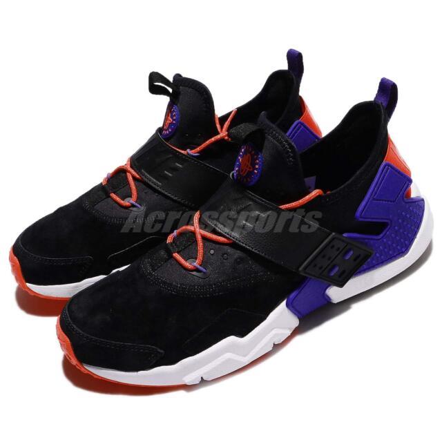 Mens Nike Air Huarache Drift Prm Running Shoe Blackblue Ah7335 002