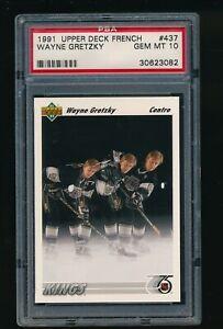 1991-92-Upper-Deck-French-437-Wayne-Gretzky-PSA-Gem-Mint-10
