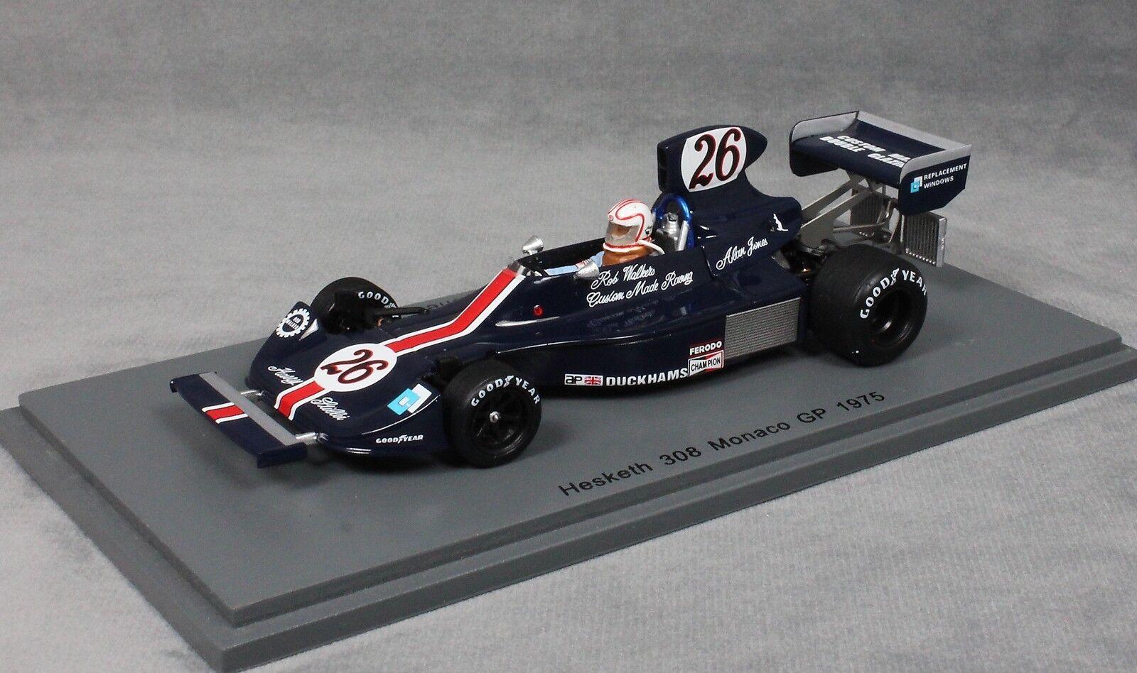 Spark Hesketh FORD 308 Grand Prix de Monaco 1975 Alan Jones S2240 1 43 NEUF