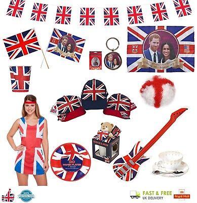 Royal Wedding Bunting Union Jack Festa Decorazione & Souvenir Gran Bretagna Lotto-mostra Il Titolo Originale