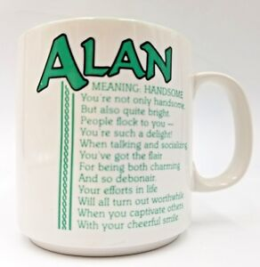 Name-Mug-Alan-Coffee-Tea-Cup-Papel-Poetry-Marci-G-Meaning-Handsome-Green-Inside