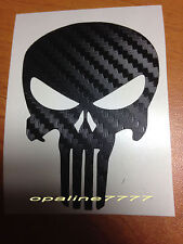 STICKER AUTOCOLLANT EFFET CARBONE TETE DE MORT CASQUE SKULL PUNISHER