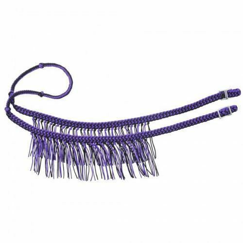 Tough 1 Knotted Braided Western Competition Reins with Fringe 8/' Long