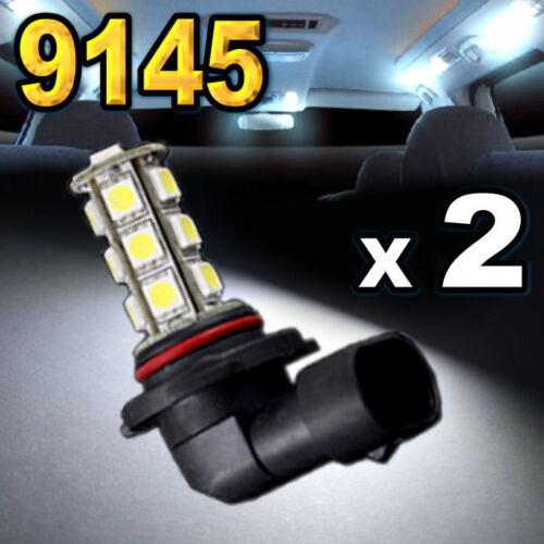 2x White 9145 LED Driving Fog Lights 9140 H10 18-SMD
