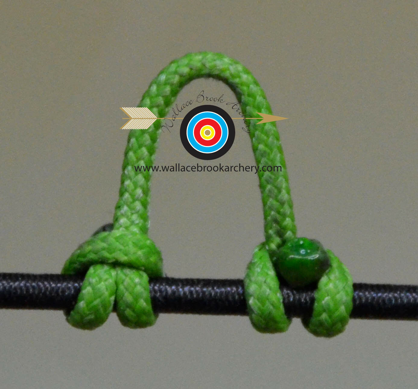 25 Feet RELEASE BOWSTRING NOCK NOCKING D LOOP ROPE Archery Bow FLO GREEN
