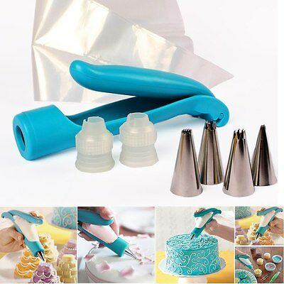 Pastry Icing Piping Bag Nozzle Tips Fondant Cake Cupcake Decorative Pen Tool Kit