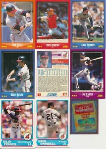 1988 Score Baseball Cleveland Indians Master Team Set W Rt