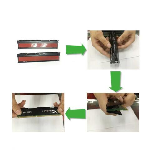 Memory RAM Cooler Cooling Vest Fin Heat Sink For PC Game DDR2 DDR3 DDR4 Sel I8L2